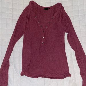 Urban Outfitters Maroon Thermal